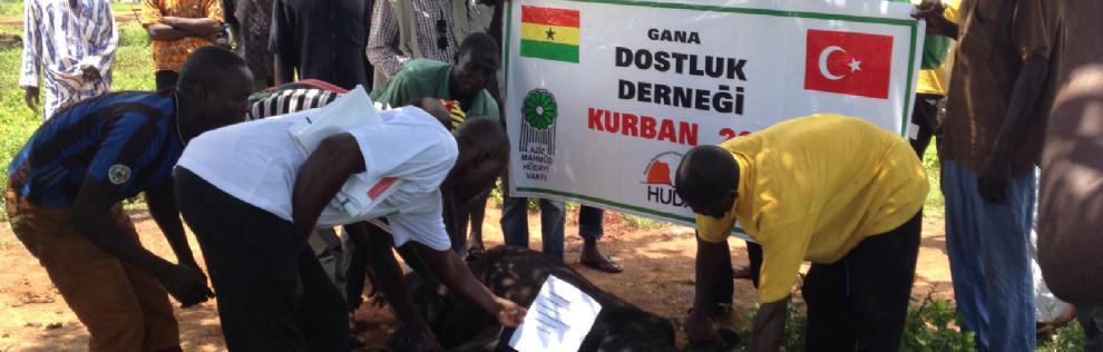 GANADER ve HUDAI olarak Gana'da kurban faaliyetlerimizi gerçekleştirdik
