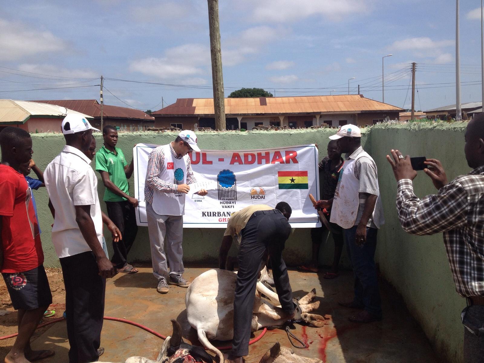 Kurban Organizasyonu - FAALİYETLER - Gana Dostuk ve Yardımlaşma Derneği