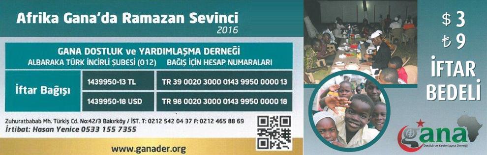 2016 Afrika Gana Ramazan Sevinci