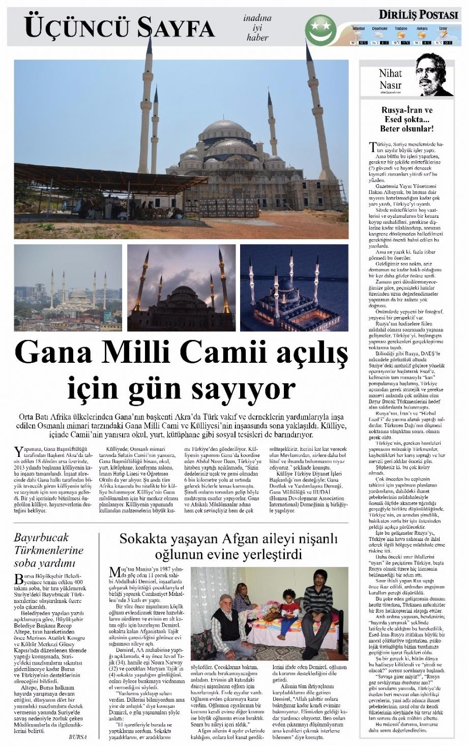 Gana Milli Camii açılış için gün sayıyor - BASINDA BİZ - Gana Dostuk ve Yardımlaşma Derneği